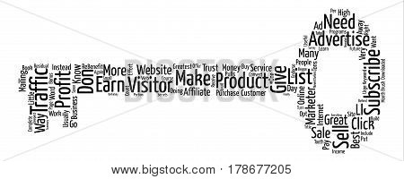 How To Turn Your Traffic Into Greatest Profit Word Cloud Concept Text Background
