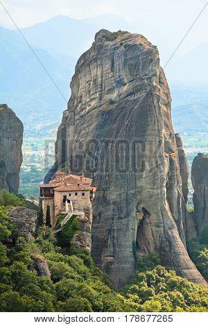 The Holy Monastery of Rousanou (St. Barbara). Meteora Greece.