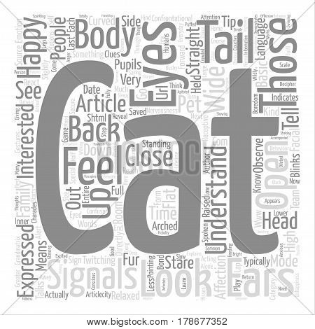 How to Understand your Cat text background word cloud concept