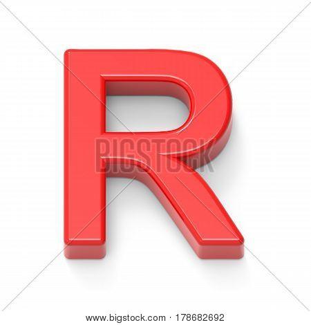 Light Red Letter R
