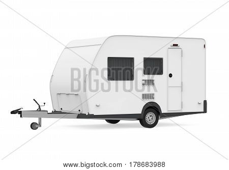 Travel Trailer isolated on white background. 3D render