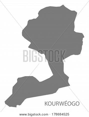 Kourweogo Burkina Faso Province Map Grey Illustration Silhouette