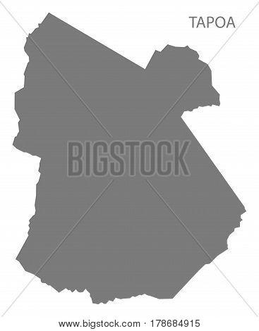 Tapoa Burkina Faso Province Map Grey Illustration Silhouette