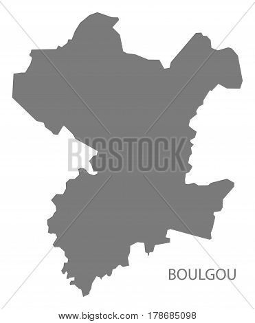 Boulgou Burkina Faso Province Map Grey Illustration Silhouette