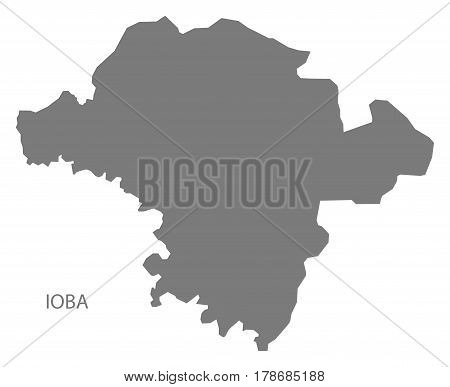 Ioba Burkina Faso Province Map Grey Illustration Silhouette