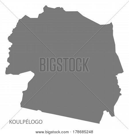 Koulpelogo Burkina Faso Province Map Grey Illustration Silhouette