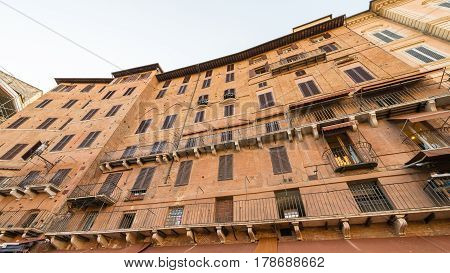 Piazza del Campo historic center of Siena Italy