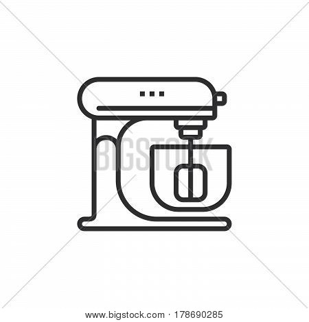 Stand Mixer line icon outline vector sign linear pictogram isolated on white. logo illustration