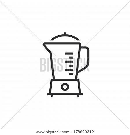 Kitchen Electric Blender line icon outline vector sign linear pictogram isolated on white. logo illustration