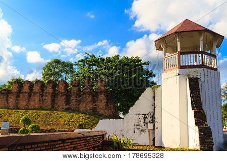 The great fortress and rampart in NAKHON SI THAMMARAT Thailand.