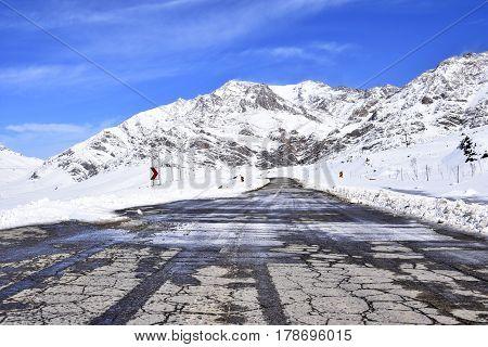 Barf Anbar, Fereydunshahr ski resort, Esfahan, Iran in the spring time