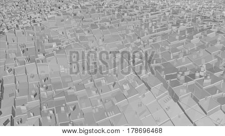 Abstract background with futuristic city. 3D rendering