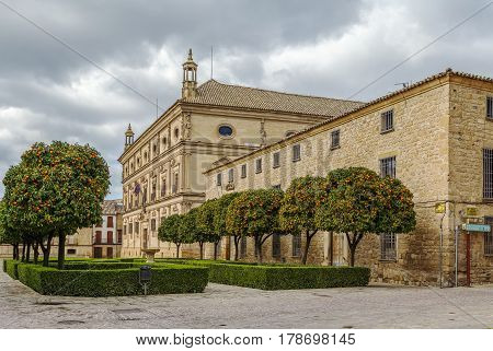 Main historic square with palaces in Ubeda Spain