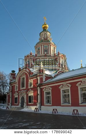 Temple of St. Martyr John the Warrior on Yakimanka Erected in 1704-1713 years Moscow