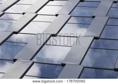 Architecture detail concept.  Facade of modern building