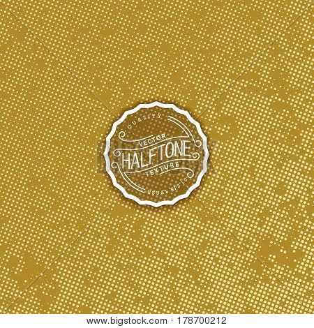 Abstract halftone background. High quality vector trace. Styled golden color