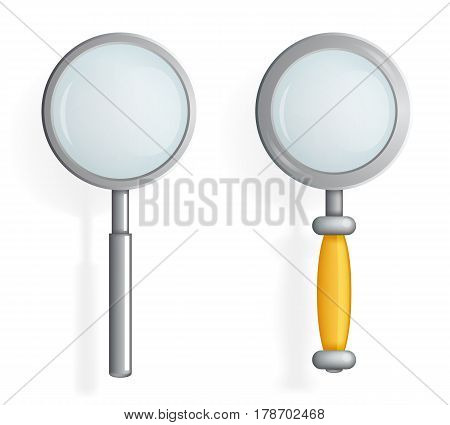 Isolated Magnifying Glass Loupe Search Icon Symbol 3d Realistic Cartoon Design Vector Illustration