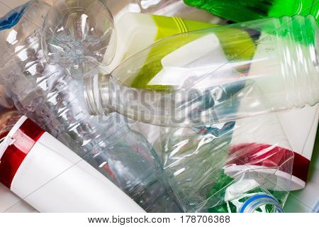 Picture of utilized plastic bottles