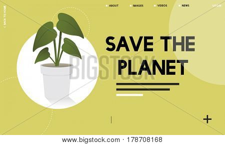 Plant symbol environmental green graphic
