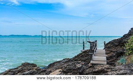 Stop area along the coastline to peninsula at Khao Laem Ya National Park Rayong Thailand