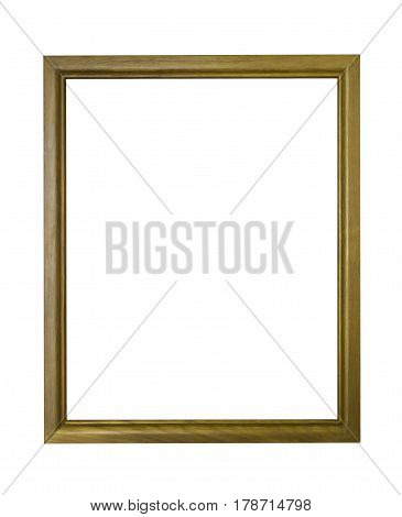 Wooden frame isolated on white with clipping path
