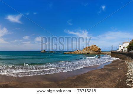 Beach at Taganana in Tenerife island - Canary Spain