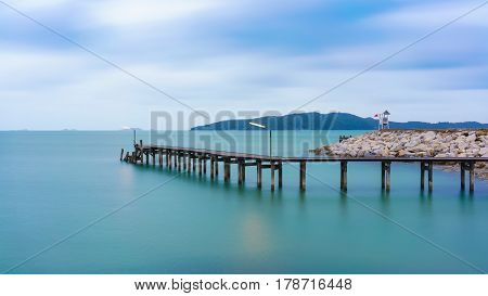 Long exposure image of peaceful scenery at Khao Laem Ya National Park Rayong Thailand
