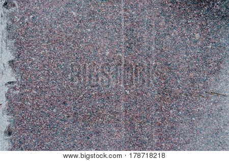 The texture of the granite slabs not polished