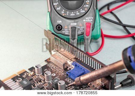 the image computer repair video card multimeter