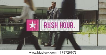 Rush Hour Crowded Metropolitan Traffic poster