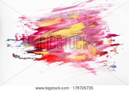 Abstract art, creative painting, artwork, dreamscape. Space galaxy in bright colors isolated on white background.