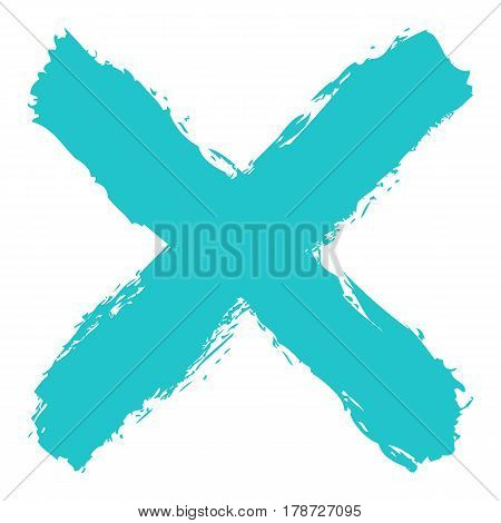 Use it in all your designs. Colored crosswise brushstroke paint created in sketch drawing handmade technique. Quick and easy recolorable vector illustration graphic element