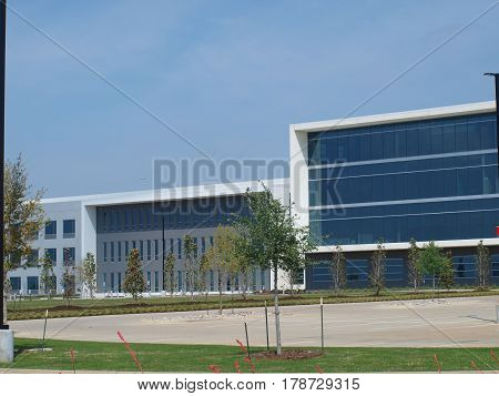 Dallas,USA,28th March,2017. The new Store Support Center campus of 7-Eleven stores sits in the massive Cypress Waters complex along I-635 LBJ Freeway. The complex sits where Coppell,Irving and Dallas come together. Viewed on 26eth March.