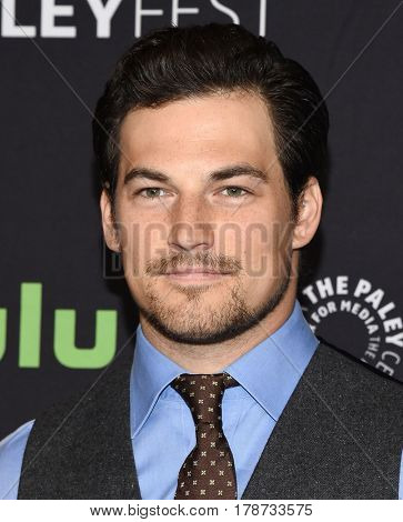 LOS ANGELES - MAR 19:  Giacomo Gianniotti arrives for the PaleyFest 2017-Grey's Anatomy on March 19, 2017 in Hollywood, CA