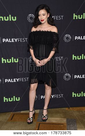 LOS ANGELES - MAR 17:  Christian Serratos arrives for the PaleyFest 2017-The Walking Dead on March 17, 2017 in Hollywood, CA