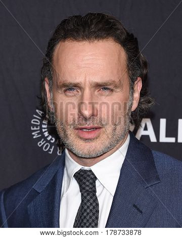 LOS ANGELES - MAR 17:  Andrew Lincoln arrives for the PaleyFest 2017-The Walking Dead on March 17, 2017 in Hollywood, CA