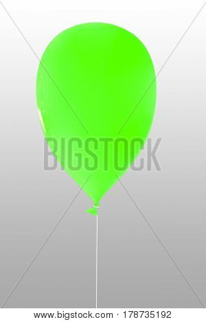 3d illustration of a green balloon isolated on white background