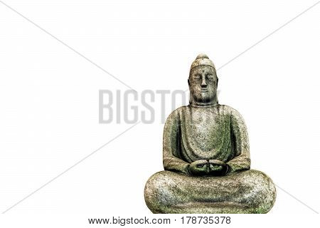 3d illustration of a Budda staue isolated on white background