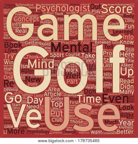 Intro to the Mental Game of Golf Part 1 text background wordcloud concept