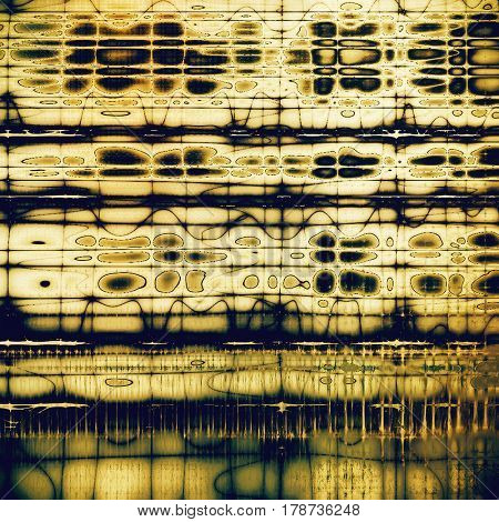 Abstract grunge background or damaged vintage texture. With different color patterns: yellow (beige); brown; blue; gray