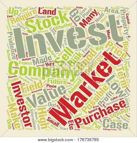 Investments guide Word Cloud Concept Text Background