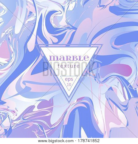 Vector marble texture. Mix of lilac and pink paints. Abstract background. Colorful waves and vortexes. Cover design for invitation, banners, greeting card, etc. EPS10