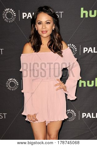 Janel Parrish at the 34th Annual PaleyFest Los Angeles presentation of 'Pretty Little Liars' held at the Dolby Theatre in Hollywood, USA on March 25, 2017.
