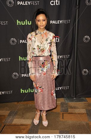 Thandie Newton at the 34th Annual PaleyFest Los Angeles presentation of 'Westworld' held at the Dolby Theatre in Hollywood, USA on March 25, 2017.
