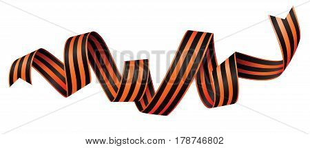 St. George Ribbons for Victory Day isolated on white background
