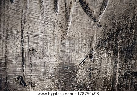 Rough Texture Of Wood Painted In Dark Colors.
