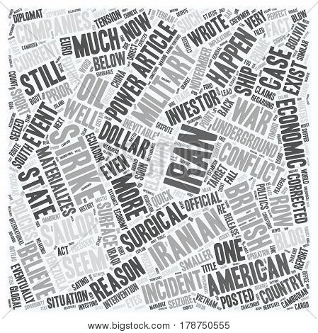 Is War With Iran Imminent text background wordcloud concept