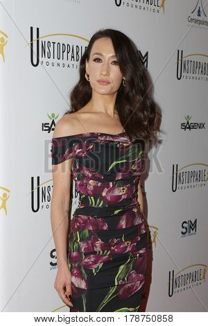 LOS ANGELES - MAR 25:  Maggie Q at the Unstoppable Foundation Gala at the Beverly Hilton Hotel on March 25, 2017 in Beverly Hills, CA