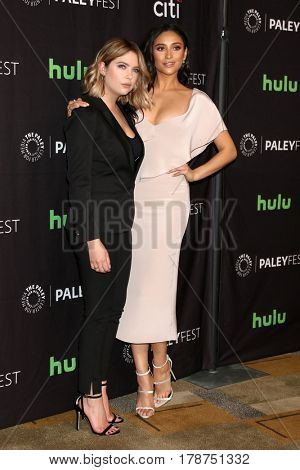 LOS ANGELES - MAR 25:  Ashley Benson, Shay Mitchell at the 34th Annual PaleyFest Los Angeles -