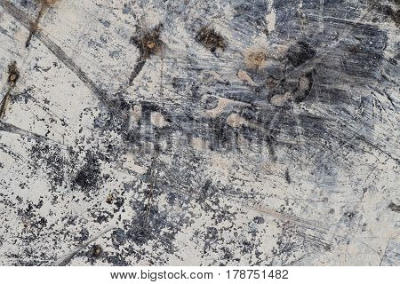 Grunge White Abstract Mineral Texture on Black III